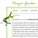 Prayer Garden - Template Screenshot