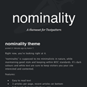 nominality - Template Screenshot