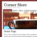 Corner Store - Template Screenshot