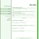 GreenLine - Template Screenshot